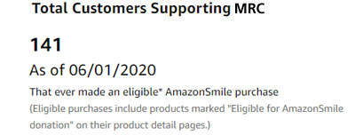 Amazon Smile Customers Supporting MRC