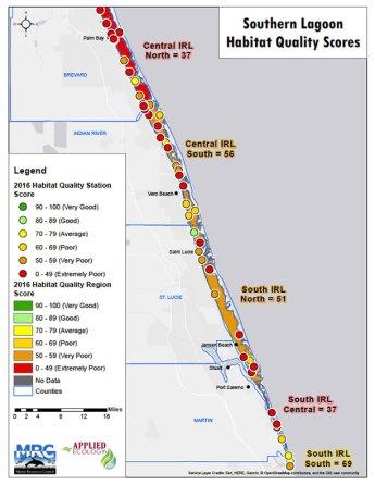 Habitat Quality Scores: Southern Lagoon