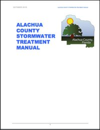 Alachua County Stormwater Treatment Manual: 2018