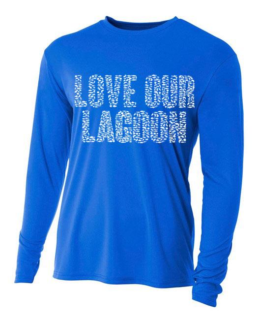 Royal Blue Love Our Lagoon Dri-FIT Unisex Long Sleeve Tee-Shirt