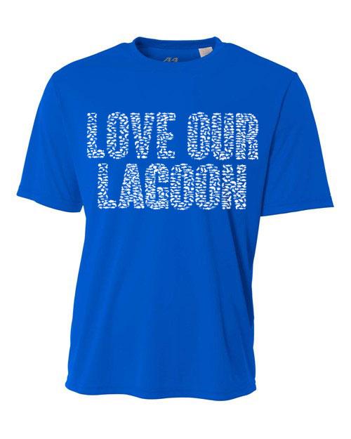 Royal Blue Love Our Lagoon Dri-FIT Unisex Short Sleeve Tee-Shirt