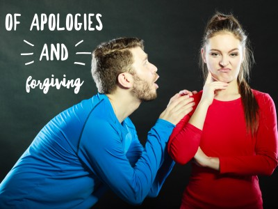 The role of apology and forgiving in a marriage. Apologies help. Forgiveness helps, too.
