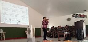 Mr. Kamal Devkota sharing knowledge on identification methods of venomous and non-venomous snakes