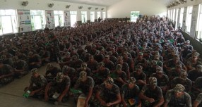 The Nepalese Army participating in the World Snake Day awareness program and reading the educational material