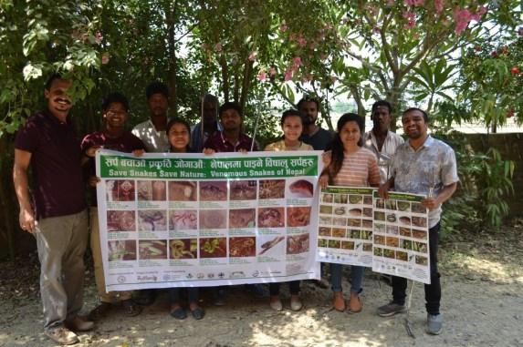 After the program at Lumbini Sanskritik Municipality, Green Youth Lumbini as Snake Information Centre