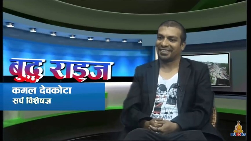 Interview in Buddha Television, Rupandehi