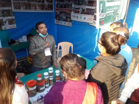 Kamal Devkota sharing his knowledge on snakes, snakebites and snake conservation to the visitors 1