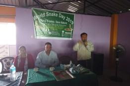 Dr. Chhabilal Thapa giving speech on Snakebite Management