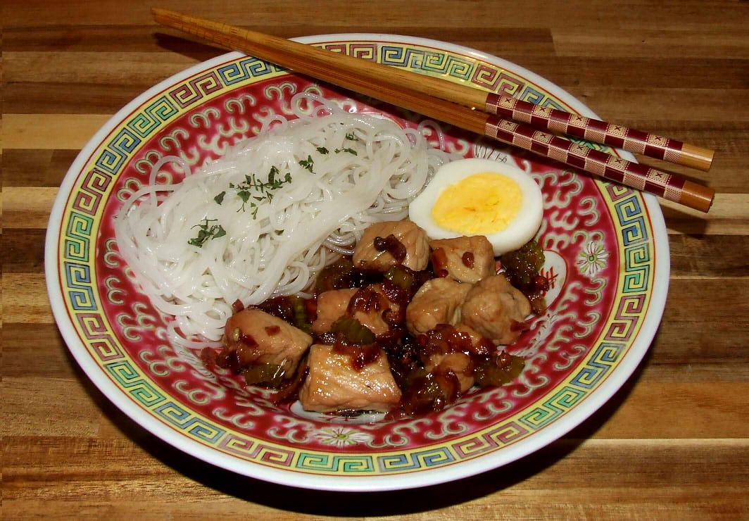 le porc au caramel vietnamien terminé