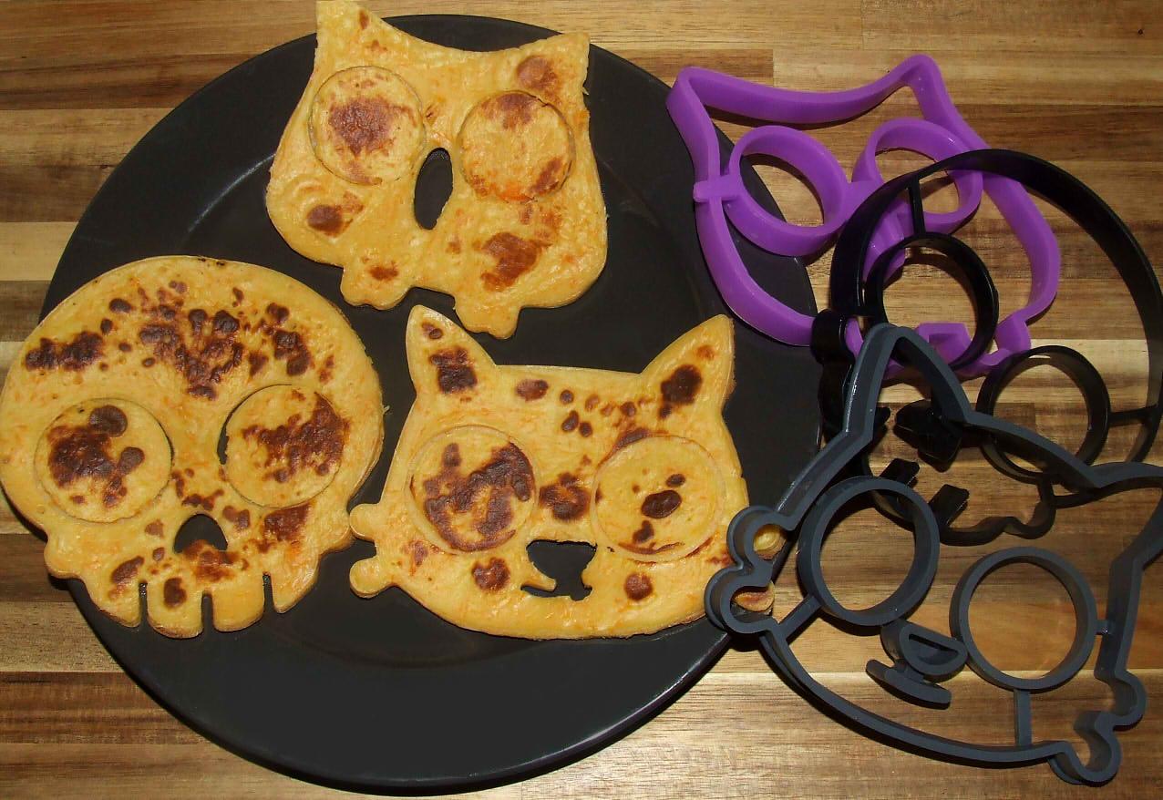 les pancakes pour le goûter d'Halloween