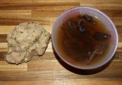 réhydratation des morilles pour le risotto