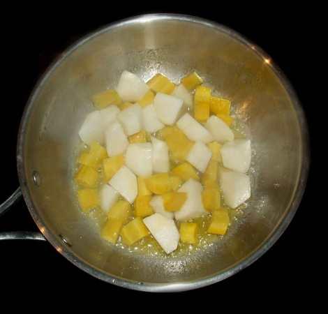 le glaçage des légumes du pot au feu à l'ancienne