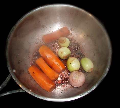 la cuisson des légumes du pot au feu à l'ancienne