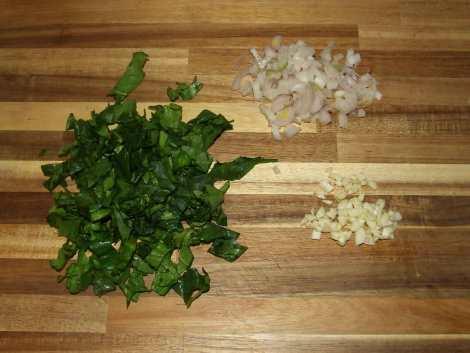 les légumes pour le feuilleté au boeuf et morilles