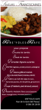 Menu Kre'Yoles Kafé