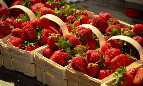 panier fraises