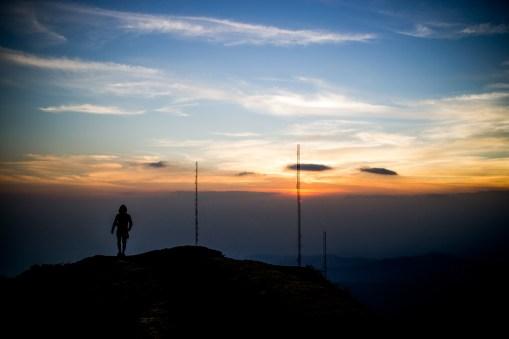 Pacaya, volcano, sunset
