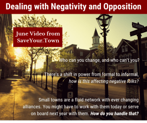 Negativity post for Facebook from SaveYourTown