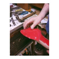 Fit the Shiny Sole in Red to your Red Soled Shoe