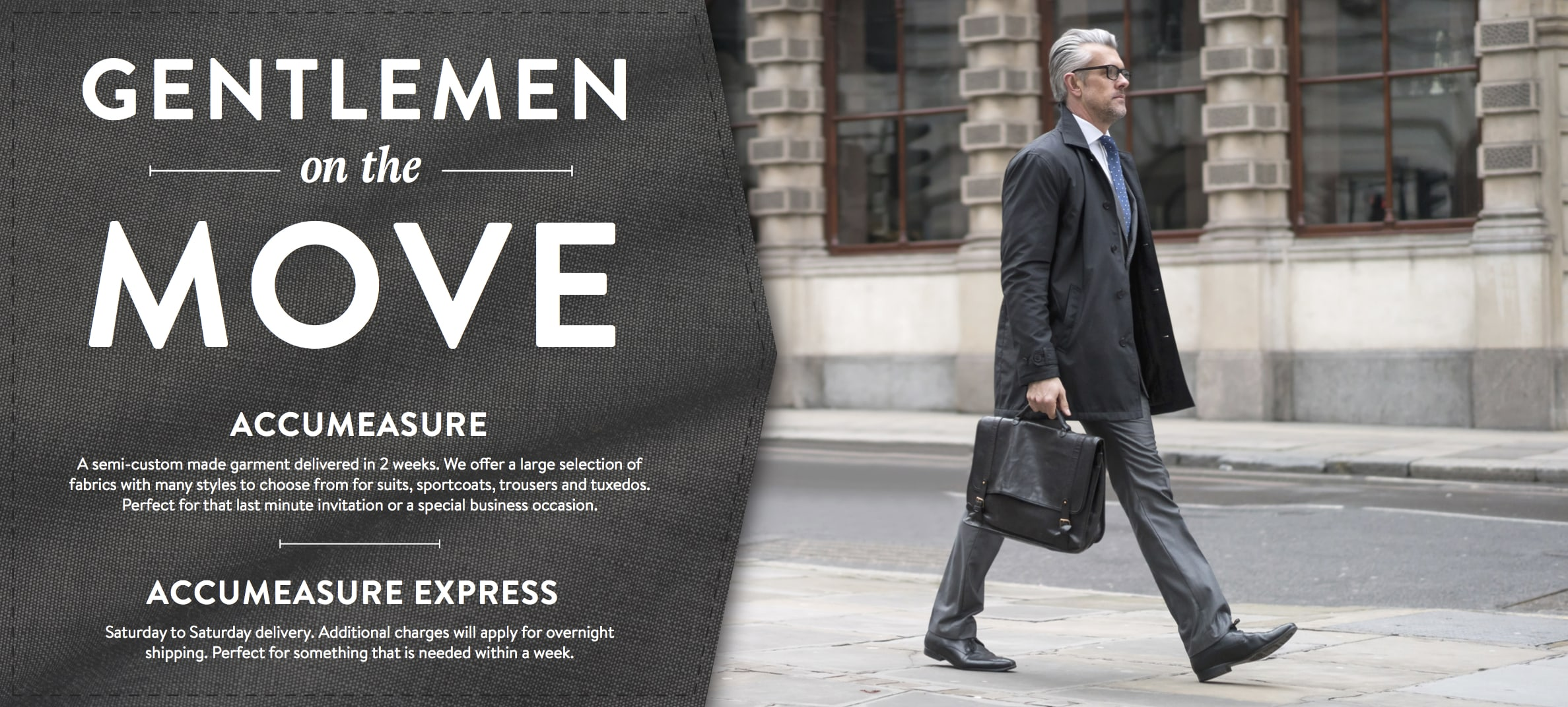 Gentlemen on the move