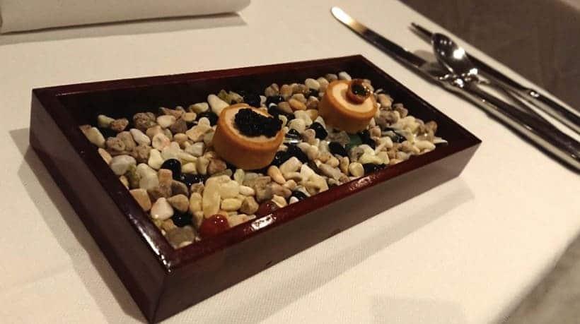 華國牛排館-前菜-鴨肝小塔+鮭魚慕斯