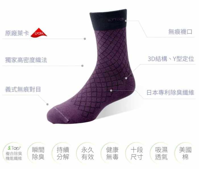 sNug第三代精品除臭襪特色-最高規格打造足下清新環境