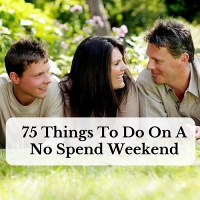 frugal, no spend weekend, money