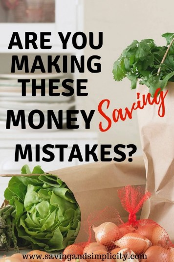 Start saving more money on your groceries. 5 money saving mistakes you might be making at the grocery store. Stop spending so much money on food and start saving with these easy tips.