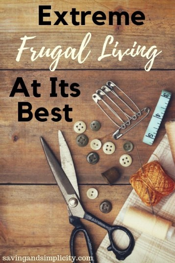 Extreme frugal living at its best. Depression era money saving secrets. Learn 25 frugal living, money saving tips and tricks.