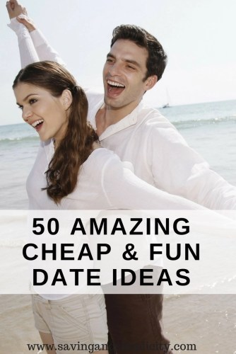 You can have an amazing date without spending lots of money. Enjoy a frugal date night out or a cheap date night in. Here are 50 amazing fun date ideas.