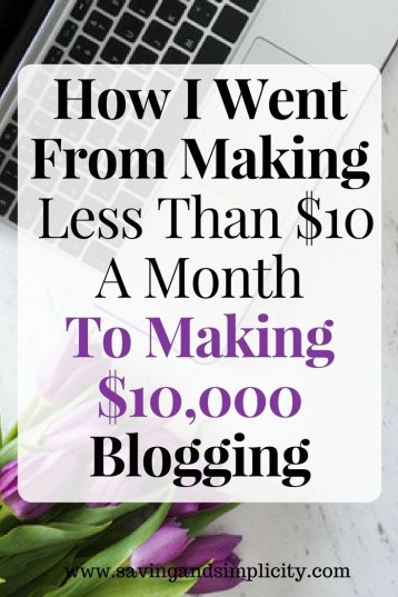 Blogging plain and simple. How I went from making less than $10 a month to making $10,000. Learn what courses I took. The steps I followed. You can do it to