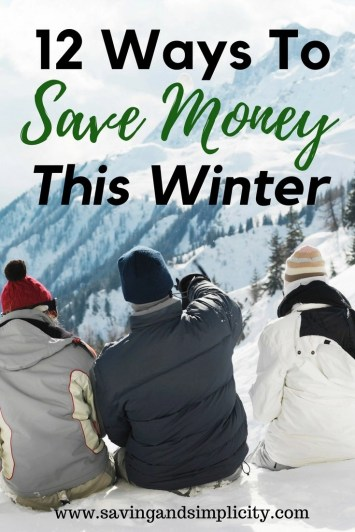 Don't let winter break the bank. Learn how to be prepared and save money this season. Save money this winter with these 12 money saving, frugal living tips.