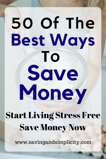 Simple, easy tips to help you save your hard earned money. What would you do with an extra $1000? 50 of the best ways to save money and cut your expenses.