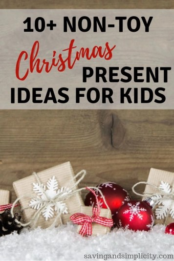 Christmas presents that aren't toys. Are you tired of all the clutter? Are you looking for something different? Checkout these non-toy Christmas gifts.