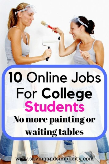 Help finance your college education. The cost of tuition is on the rise. Learn 10 online jobs that you can do in between classes to earn extra money.