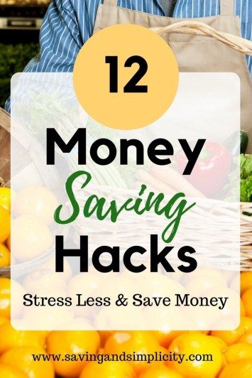 Save money on your home expenses with simple easy to follow tips. 12 money saving hacks to help you stress less and save more. Frugal living. Saving money