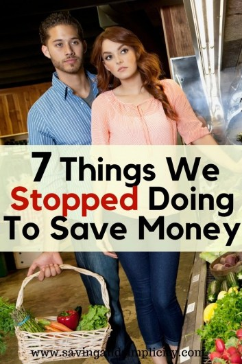 Shopping sales, using coupons, living frugally and being smart with money. Learn what we stopped doing to save more money. Living well on less. Save money.