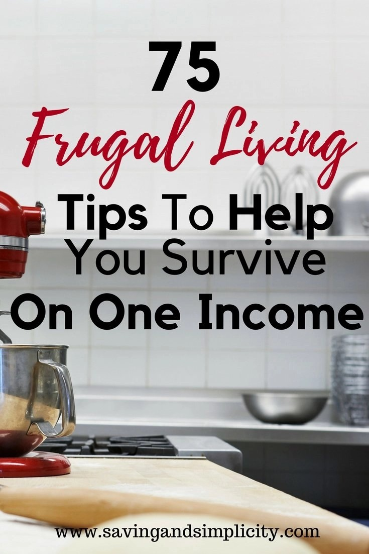 Frugal Living Surviving On One Income - Saving & Simplicity