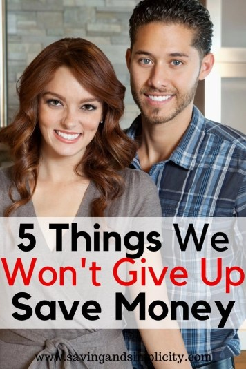 I love to save money as much as the next person, but there are somethings I just won't do. Would you give up coffee or the car or .... Learn the 5 things I won't give up and the 10 things I will to save money.
