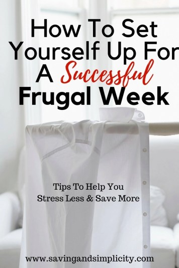 Each one of us has a different definition of success. As Mom's we all want the same two things to stress less and save money. These two things and a happy family mean a guaranteed successful frugal week. Learn 7 other tips that will ensure a successful frugal money saving week.