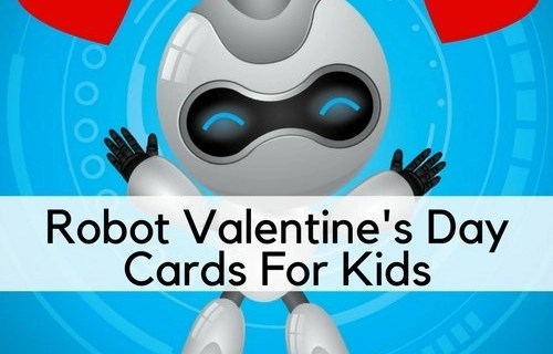Robot Valentine's Day Cards For Kids