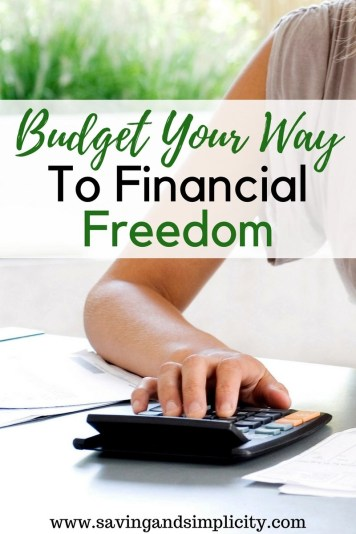 Get in the habit of budgeting. Budgeting your finances gives you freedom and tells your money where to go and makes it work for you. Don't be a slave to your creditors, live your dreams.