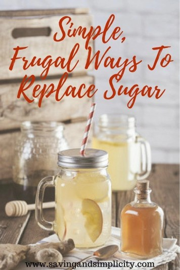 Did you know that the average person consumes just under 100 pounds of sugar a year?  That is a lot of sugar. Natural sweeteners are healthier for you. Learn simple frugal ways to replace sugar in your diet.