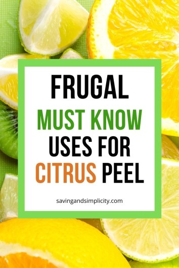 What do you do with your leftover orange peel or lemon rind? Did you know there are 21 money saving uses for your discarded citrus peel? Learn what to do before you toss that rind. Put it to good frugal use around your home.