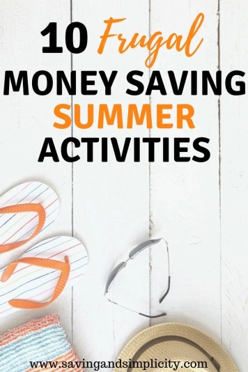 Summer means longer lazy days, picnics in the park and barbecue dinners. Learn 10 frugal, money saving summer activities. Frugal family fun. No spend weekends. Cheap kids activities.