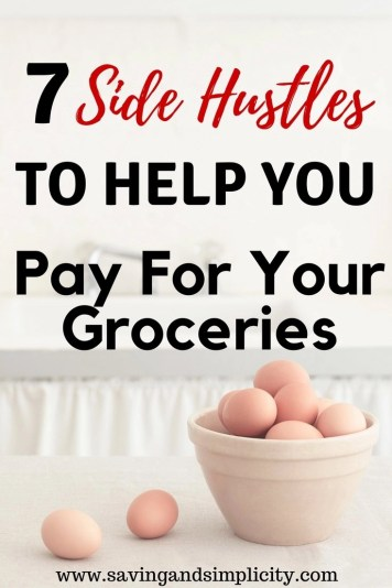 Breakfast, lunch and dinner. Three meals a day, plus snacks and the occasional dessert. Learn how to save money, shop frugally and 7 side hustles to help you pay for your groceries.