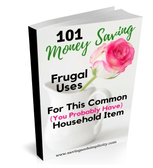 One simple household ingredient can save you thousands of dollars on your household expenses. 101 money saving frugal uses both inside and outside the home. You can even start a money making business with this one item. Who knew one common item was so useful?