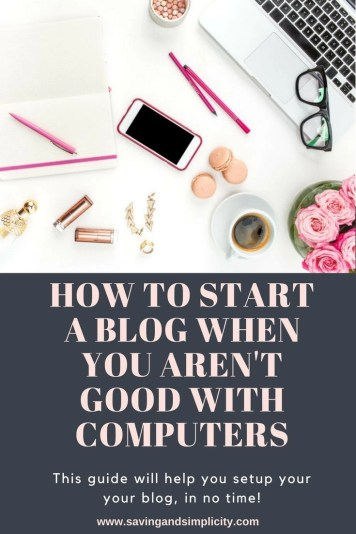 Do you want to start a blog but all the computer and coding stuff has you stressed? Learn how to start a blog when you aren't good with computers.