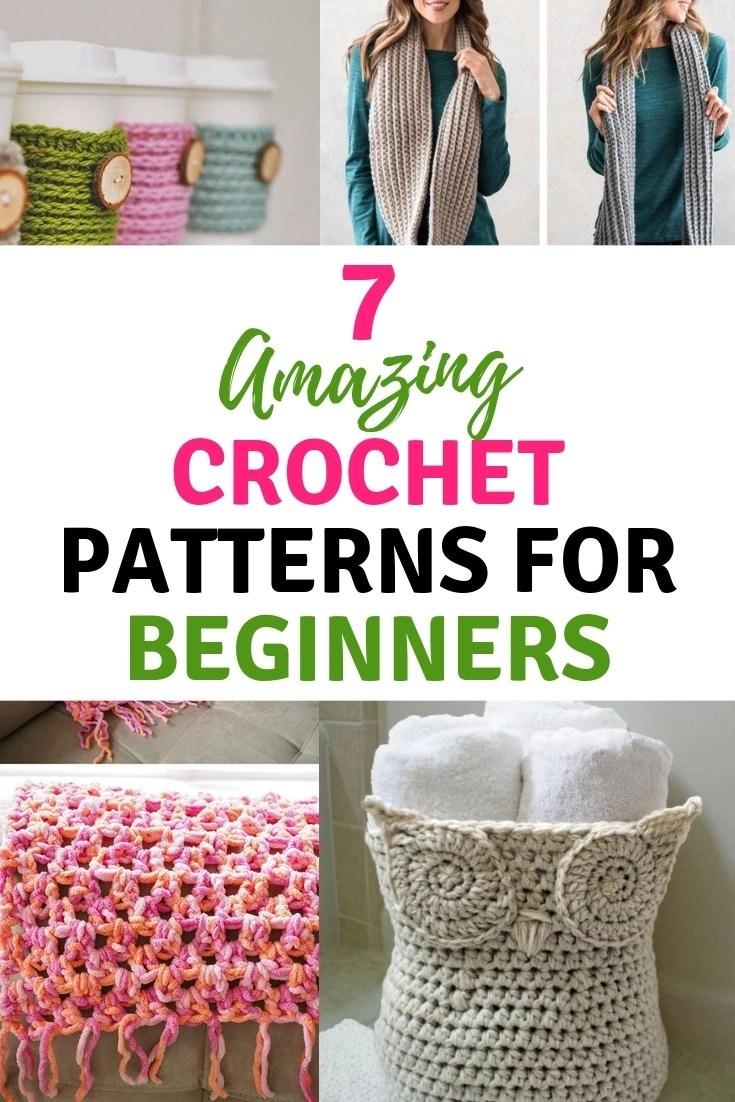 7 Amazing Crochet Patterns For Beginners Saving Simplicity