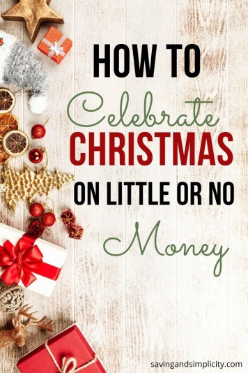 Christmas on little or no money